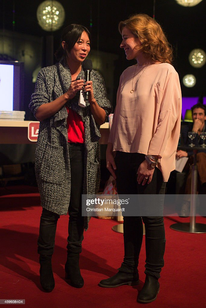 Minh-Khai Phan-Thi and Mirjam Knickriem attend the 'Mein Mali' Book Presentation at Komische Oper on December 4, 2014 in Berlin. Photo by Christian Marquardt/Getty Images)