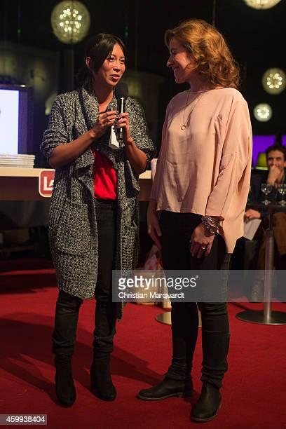 MinhKhai PhanThi and Mirjam Knickriem attend the 'Mein Mali' Book Presentation at Komische Oper on December 4 2014 in Berlin Photo by Christian...