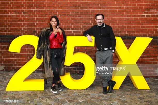 MinhKhai PhanThi and Oscar Ortega Sanchez attend the 25 Year X Filme anniversary party at Radialsystem V on September 20 2019 in Berlin Germany