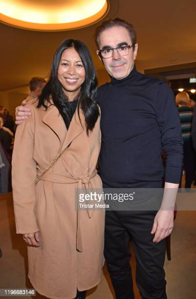 MinhKhai PhanThi and Oscar Ortega Sanchez attend the Ab jetzt theater premiere on January 26 2020 in Berlin Germany