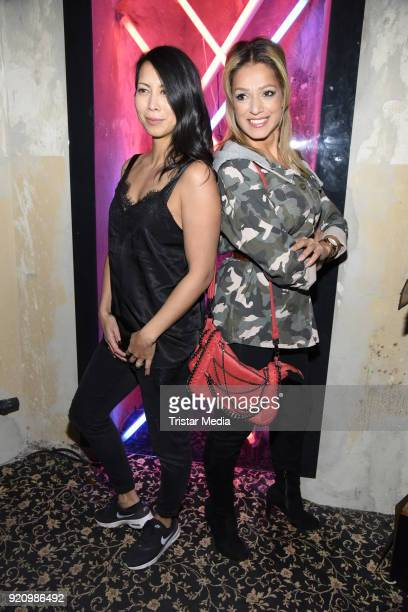 MinhKhai PhanThi and Shirin Tabatabai during the Pantaflix Panta Party on February 19 2018 in Berlin Germany