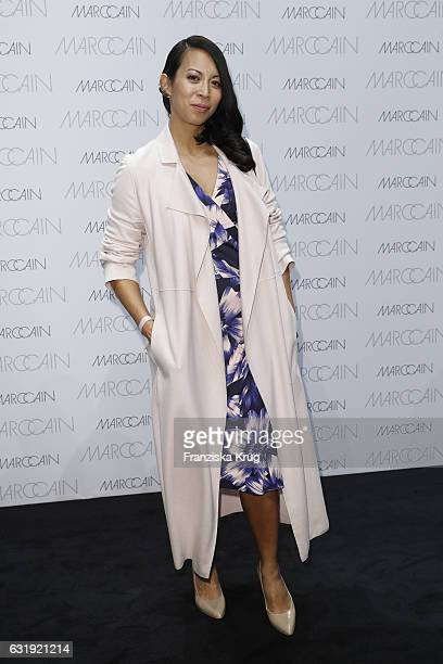 MinhKhai PhanThi attends the Marc Cain fashion show A/W 2017 at Deutsche Telekom representation on January 17 2017 in Berlin Germany