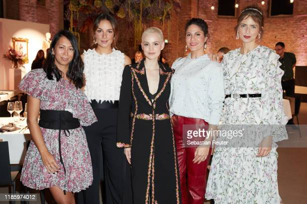 Minh-Khai Phan-Thi, Janina Uhse, Emilia Schuele, Jasmin Gerat and Eva Padberg attend the exclusive dinner and exhibition of the Giambattista Valli x...