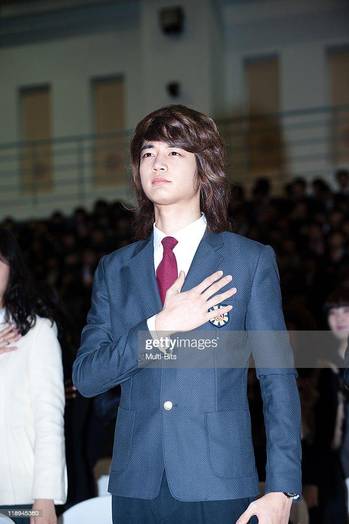Min-Ho of SHINee attends his High School Graduation Ceremony