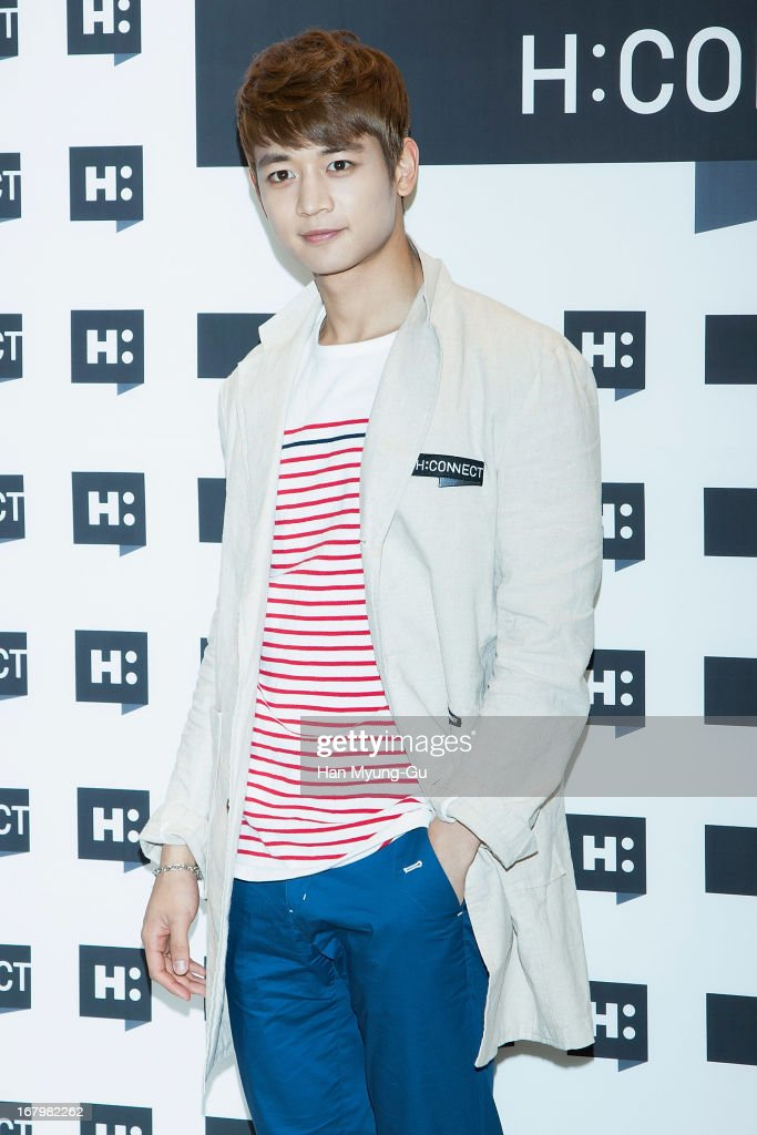 Minho of South Korean boy band SHINee attends a promotional event for the 'H:Connect' Gangnam Flagship Store Opening on May 3, 2013 in Seoul, South Korea.