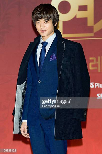 Minho of South Korean boy band SHINee attends during the 2012 SBS Drama Awards at SBS Prism Tower on December 31 2012 in Seoul South Korea