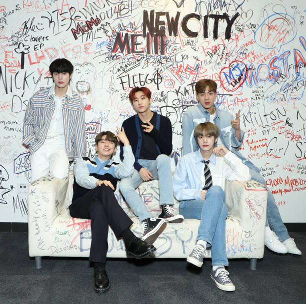 NY: Monsta X Visits Music Choice