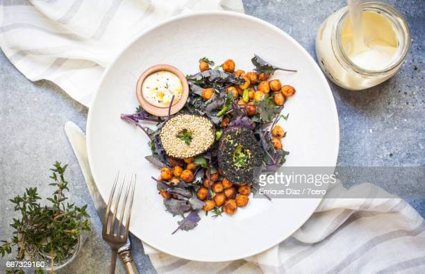 Mini Avocado Salad with Spicy Chickpeas