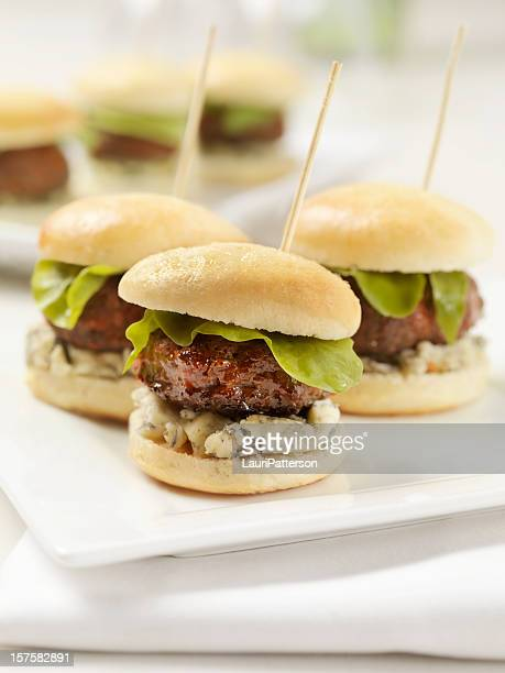 Mini Burgers with Blue Cheese and Lettuce