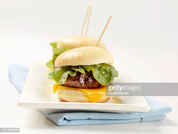 Mini Burgers with Lettuce and Cheese
