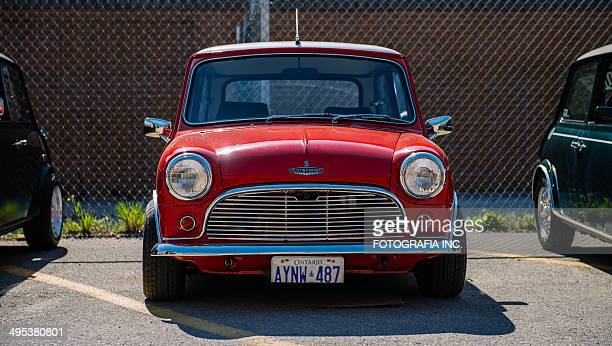 mini classics - mini cooper stock pictures, royalty-free photos & images