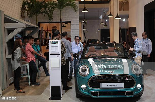 Mini Cooper Cabrio vehicle is seen at the Indonesia International Auto Show in Tangerang near Jakarta Indonesia August 19 2016