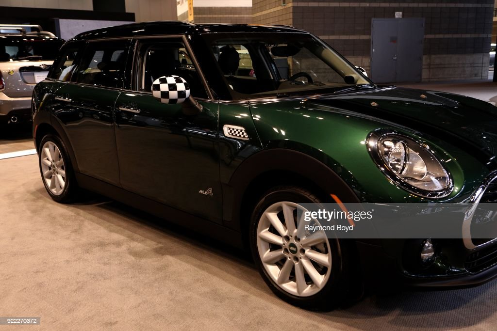 Mini Cooper Clubman All4 is on display at the 110th Annual Chicago Auto Show at McCormick Place in Chicago, Illinois on February 9, 2018.
