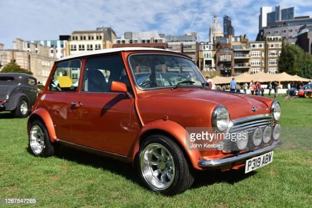 Mini Cooper is displayed during the London Concours at Honourable Artillery Company on August 20 2020 in London England The London Concours presented...