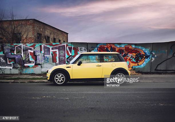 mini cooper on the street - mini cooper stock pictures, royalty-free photos & images