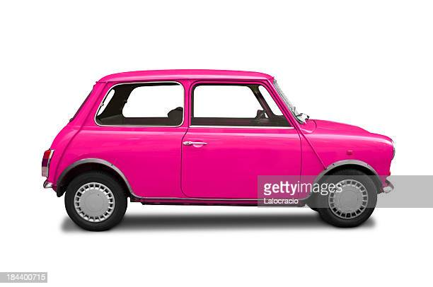 mini cooper pink - small stock pictures, royalty-free photos & images