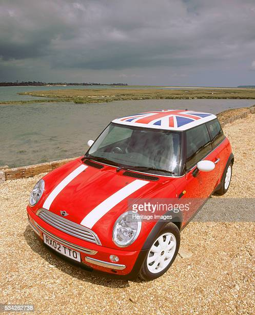 Mini Cooper with Union flag roof 2000