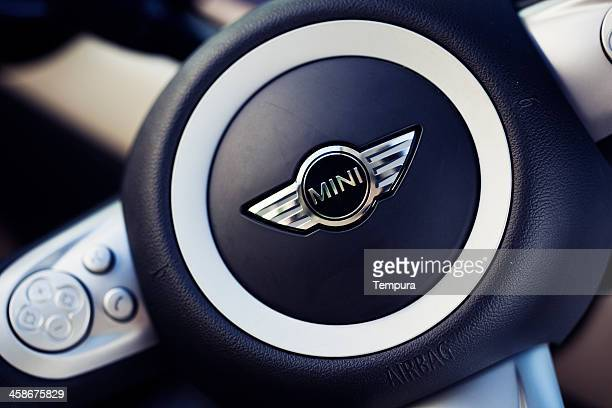 mini cooper's logo. - mini cooper stock pictures, royalty-free photos & images