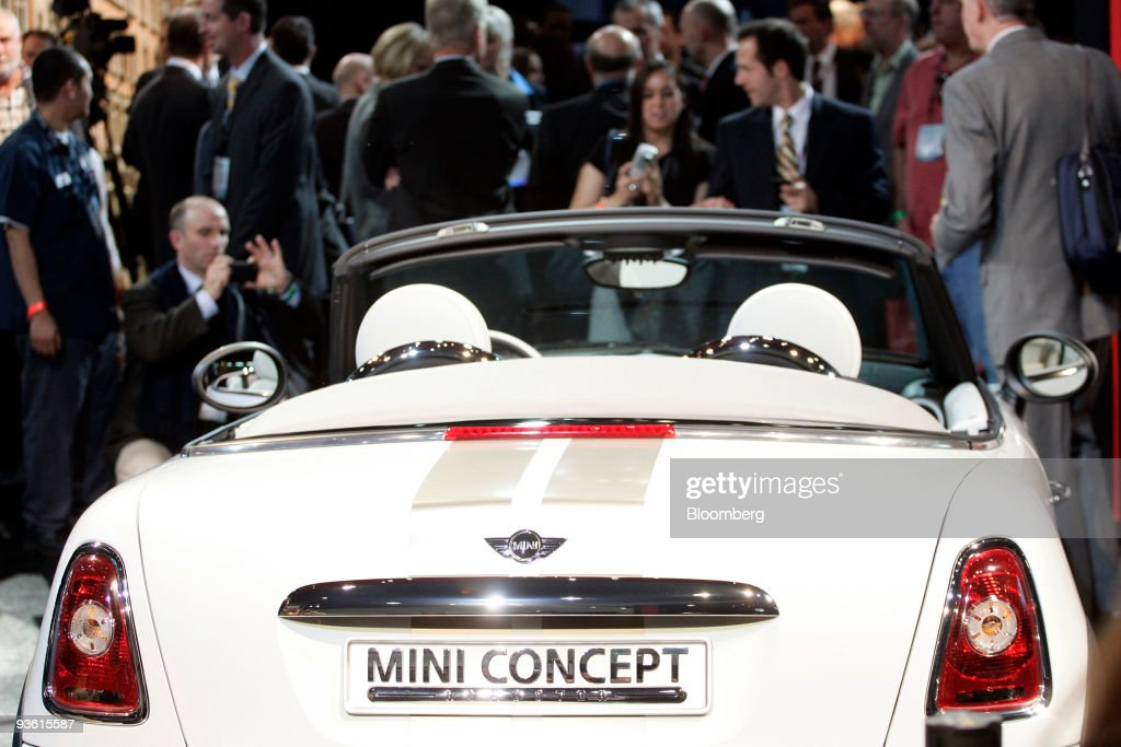A Mini Coupe Concept Car Is Displayed At The 2009 La Auto Show At