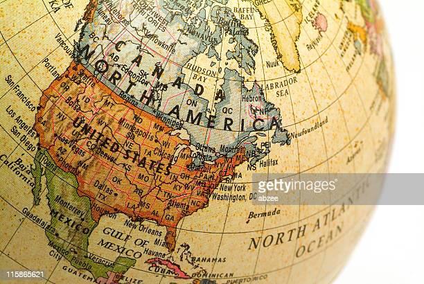 Mini Globe North America02