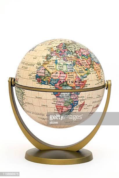 Mini-Globe auf stand Afrika