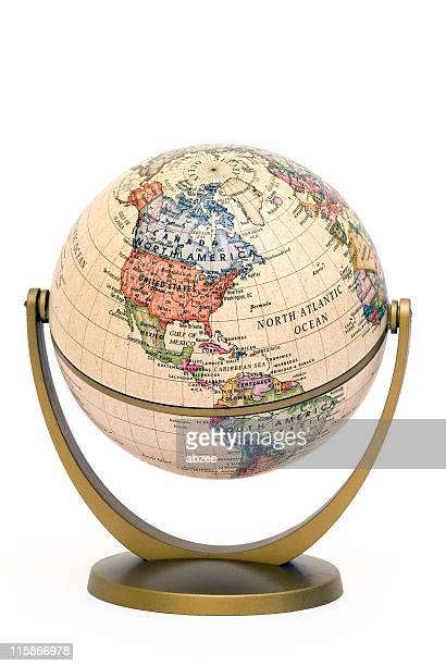 ミニスタンド世界中に傾斜北米