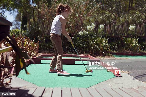 Mini golf girl