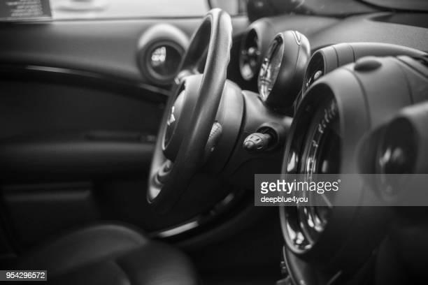 mini john cooper works-dashboard - airbag stock-fotos und bilder