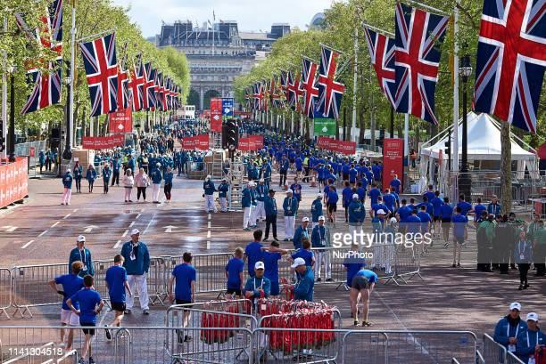 Mini Marathon Runners on April 28 2019 London England