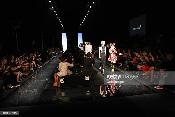 Mini Mouse makes an appearance in designer Suzaan Heyns's show during South African Fashion Week 2013 on October 3 in Johannesburg South Africa