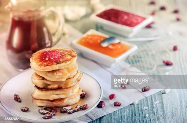 Mini pancake con Marmellata di lamponi