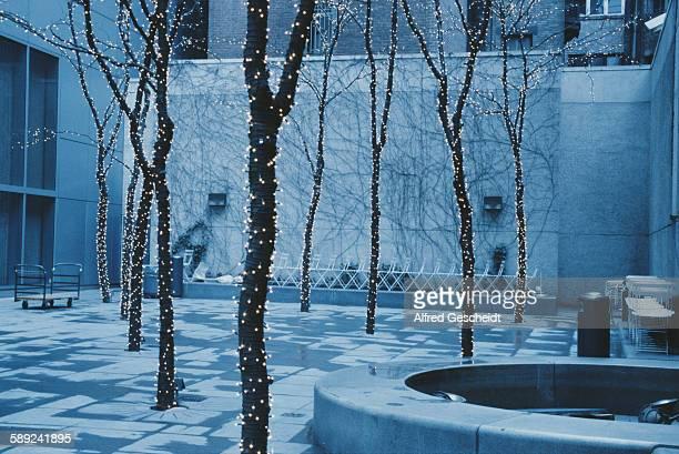 A mini park in Manhattan New York 1988