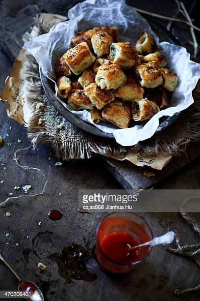 Mini Pork, Apple & Pistachio Sausage Rolls