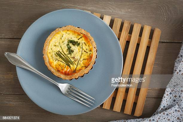 A mini quiche with herbs