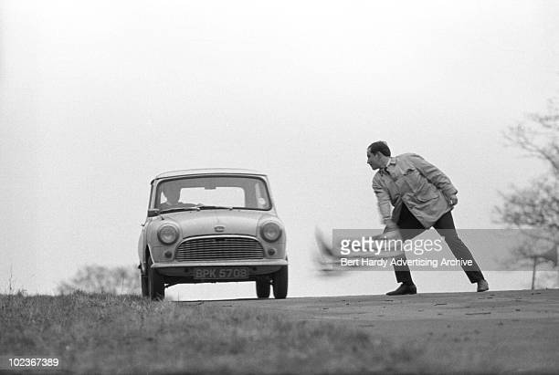 A Mini rally at Brands Hatch in Kent 6th January 1965