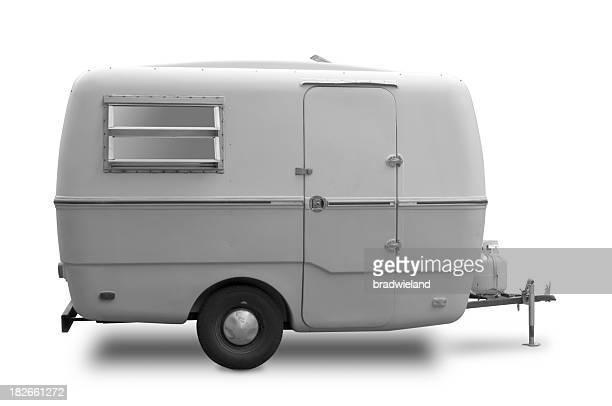 Mini camping-cars et caravanes & noir blanc