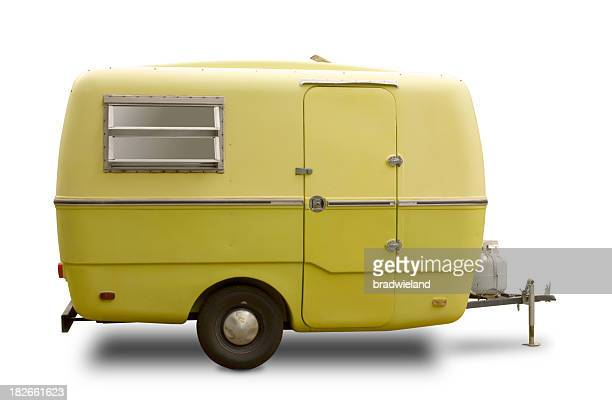 Mini RV Yellow Trailer
