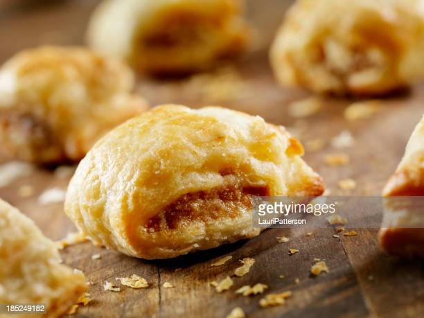 mini sausage rolls - baked pastry item stock pictures, royalty-free photos & images