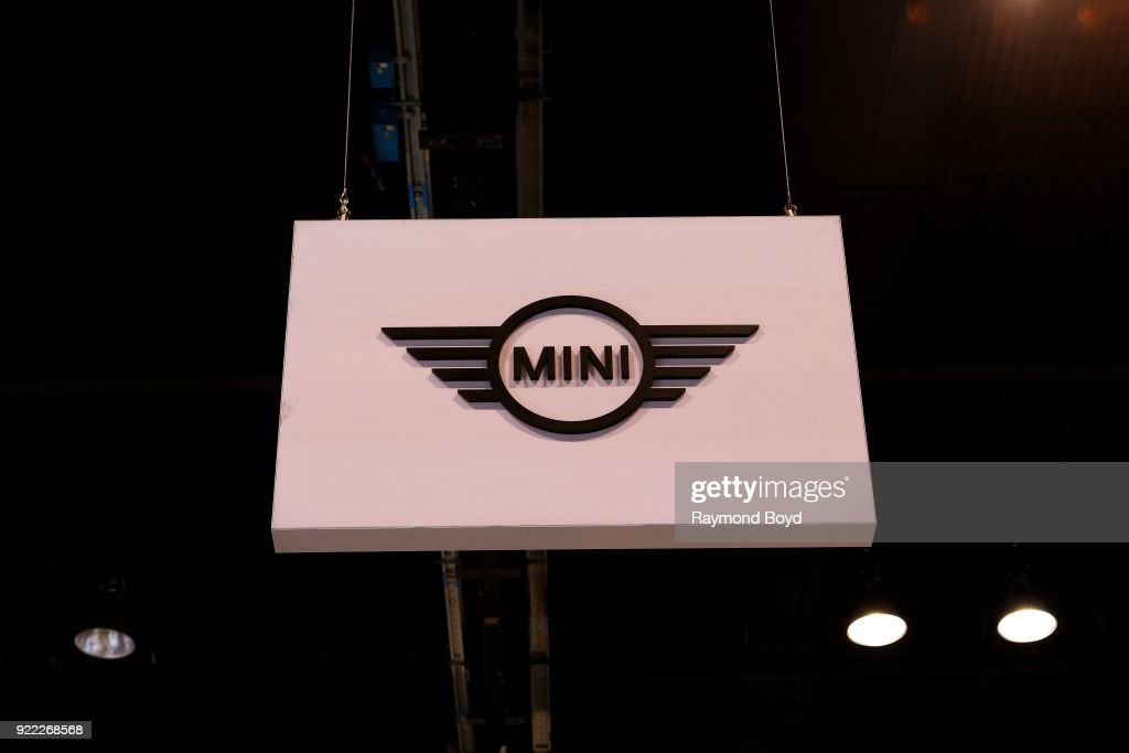 Mini signage is on display at the 110th Annual Chicago Auto Show at McCormick Place in Chicago, Illinois on February 9, 2018.