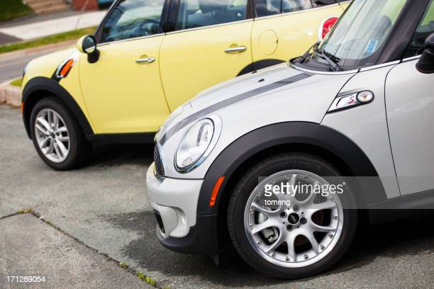 mini vehicles at a car dealership - mini cooper stock pictures, royalty-free photos & images