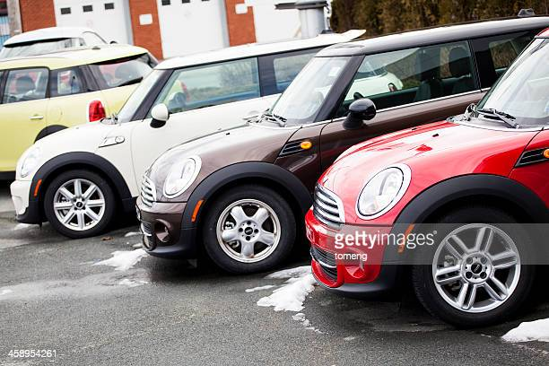 Mini Vehicles in a Row
