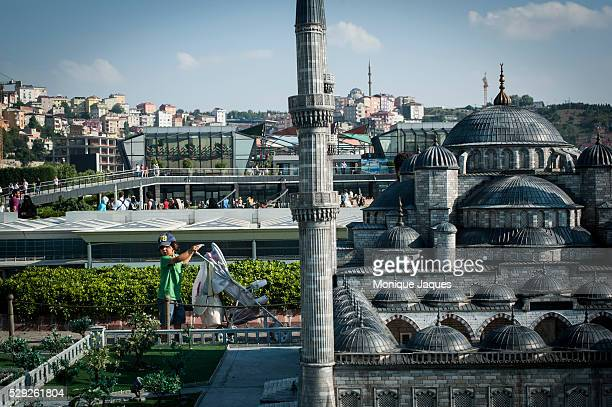 Miniat��rk a minature model park in Istanbul Turkey draws visitors from far and near to view its extensive collection of minatures from all over...