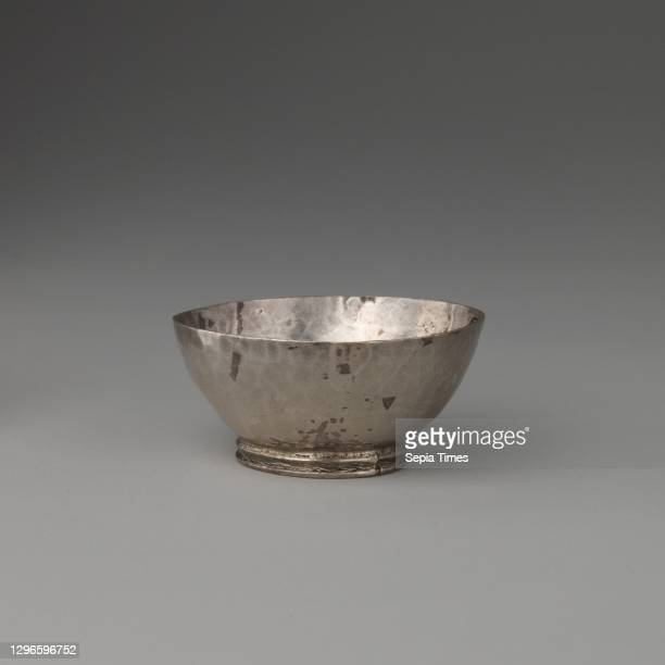 Miniature bowl, Probably by George Manjoy , 1690–91, British, London, Silver, 1 1/4 × 1 1/8 in. , Metalwork-Silver-Miniature, Probably by George...