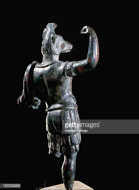 Miniature bronze figure of Hermanubis a jackal headed deity wearing a cuirass and tunic Although the fusion of attributes of Greek and Roman deities...