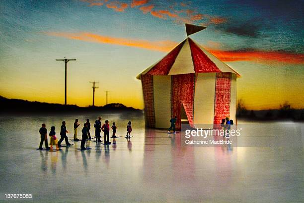 miniature circus - catherine macbride stock pictures, royalty-free photos & images
