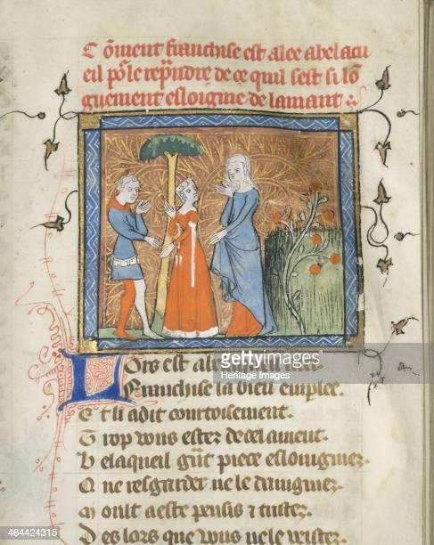 Miniature from a manuscript of the Roman de la Rose by Guillaume de Lorris and Jean de Meun ca 1365 Found in the collection of the University of...