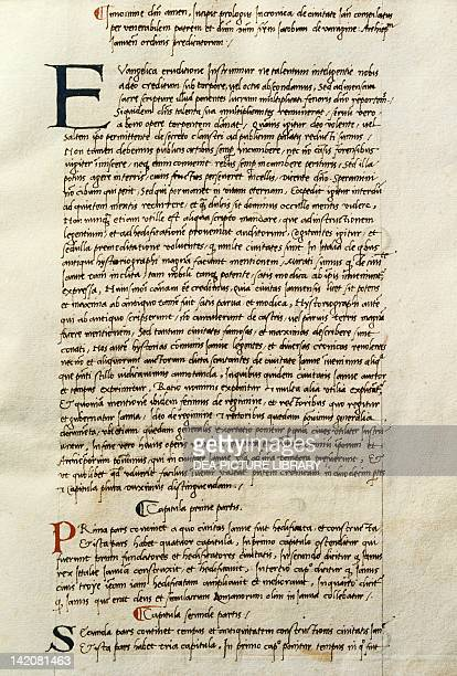 Miniature from Chronicon Januense by blessed Jacopo from Varagine, Latin manuscript, 15th Century.
