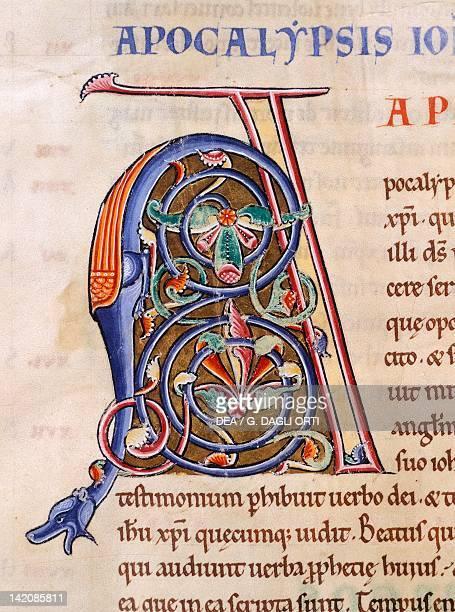 Miniature from the Latin Bible manuscript 12th Century