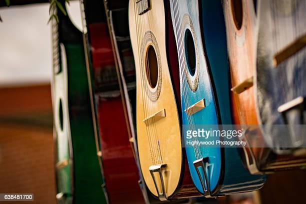 miniature guitars for sale - highlywood stock photos and pictures