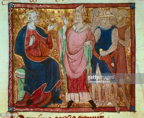 Miniature Henry II of England King of England and husband of Eleanor of Aquitaine Paris Bibliotheque Nationale